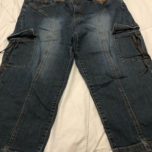 Lane Bryant size 20 denim capris